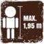 Maximale Körpergröße für die Nutzung der Fahrgeschäfte 1,95cm