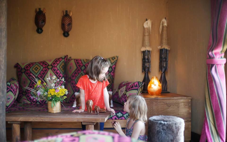 Kinderfreundliche Ausstattung in der Masai-Mara-Lodge