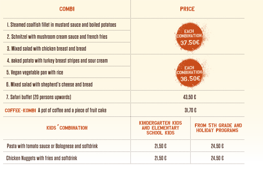 Combined Offers / Kombi