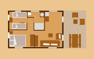 Zelt-Lodge für 5 Personen