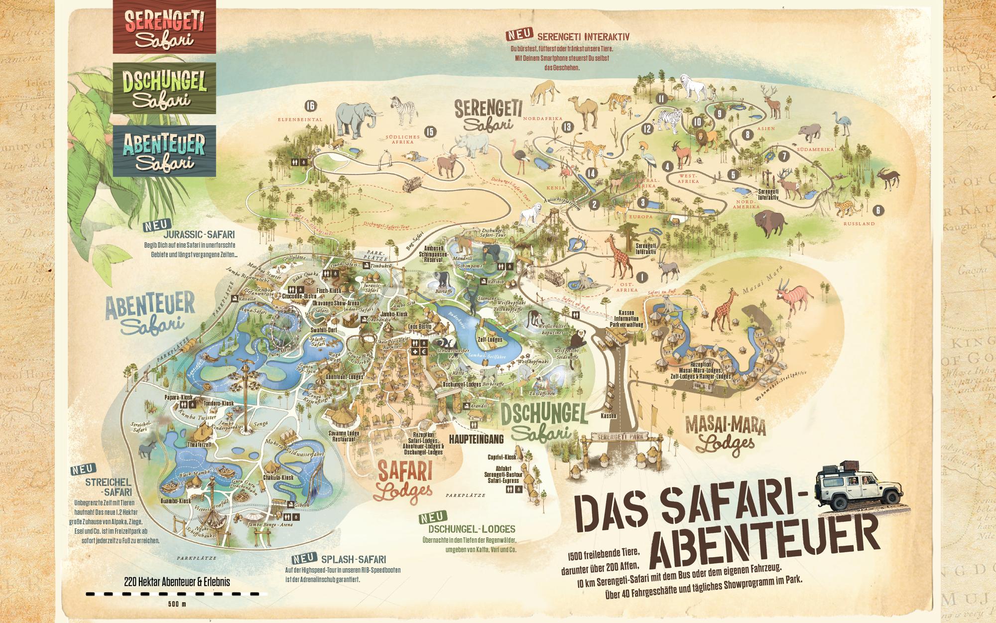 Parkplan Serengeti-Park Hodenhagen