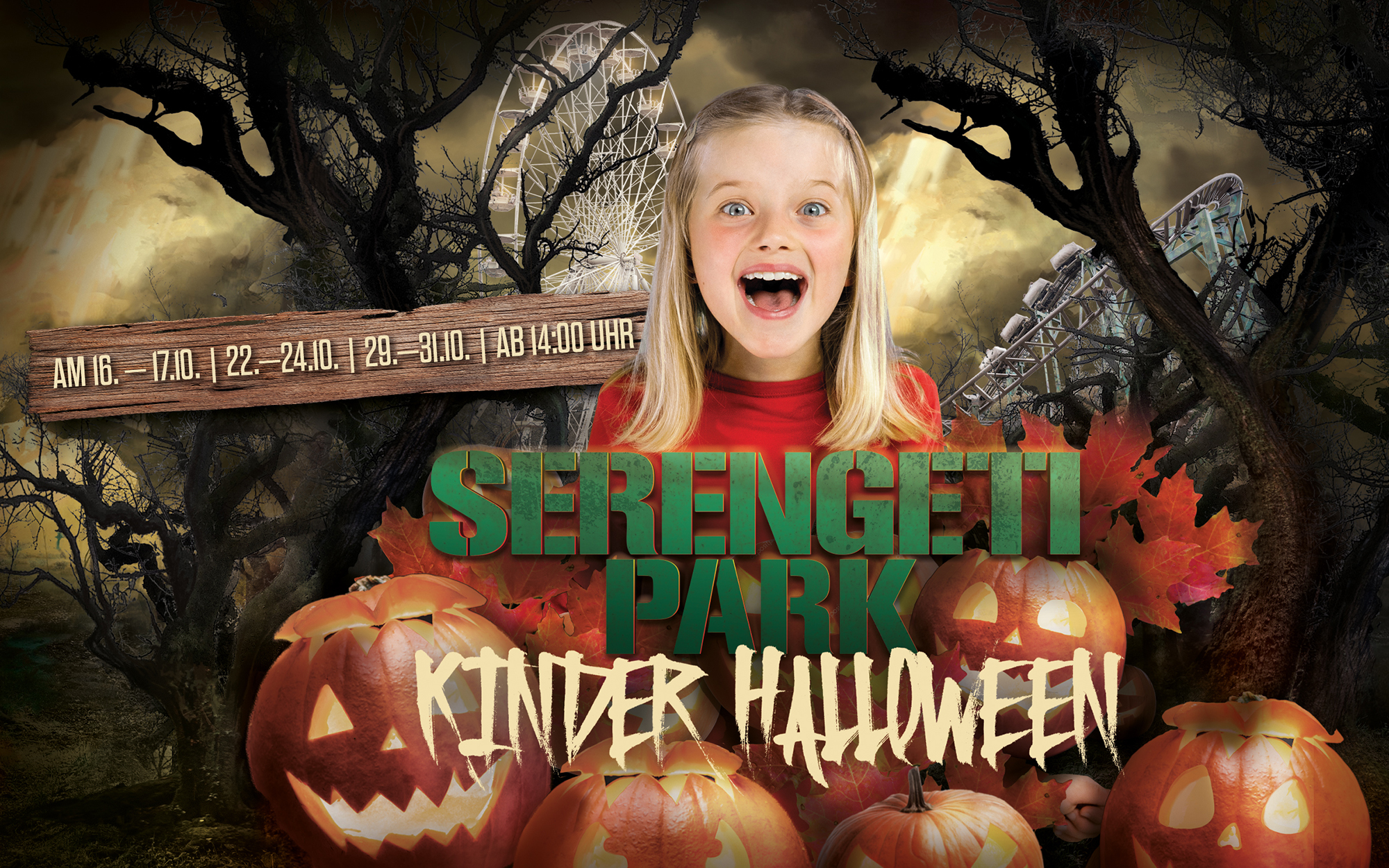 Kinder-Halloween im Serengeti-Park