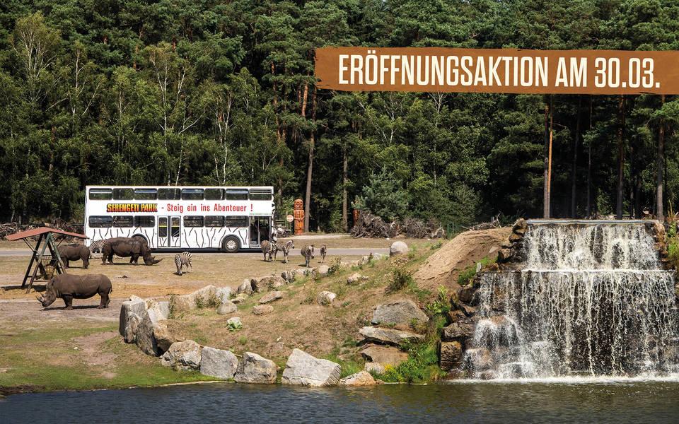 Eröffnungsaktion zum Saisonstart im Serengeti-Park