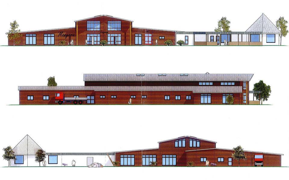 Bauzeichnung für das neue Restaurant Manyara im Serengeti-Park