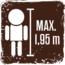 Maximale Körpergröße für die Nutzung der Fahrgeschäfte 1,95 cm