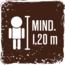 Mindeste Körpergröße für die Nutzung der Fahrgeschäfte 1,20 cm