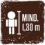 Mindeste Körpergröße für die Nutzung der Fahrgeschäfte 1,30 cm