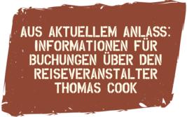 Wichtiger Hinweis für Thomas Cook Kunden