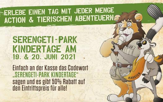 Serengeti-Park Kindertage 2021
