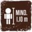 Mindeste Körpergröße für die Nutzung der Fahrgeschäfte 1,10 cm