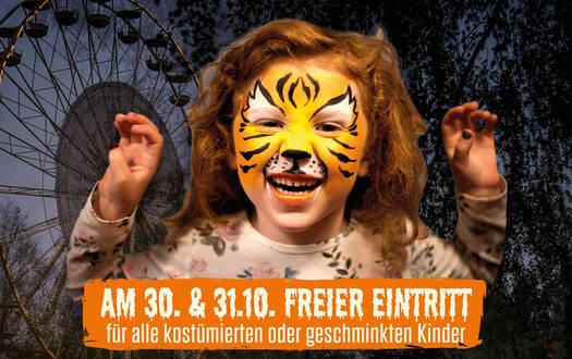 Freier Eintritt für geschminkte Kinder an Halloween
