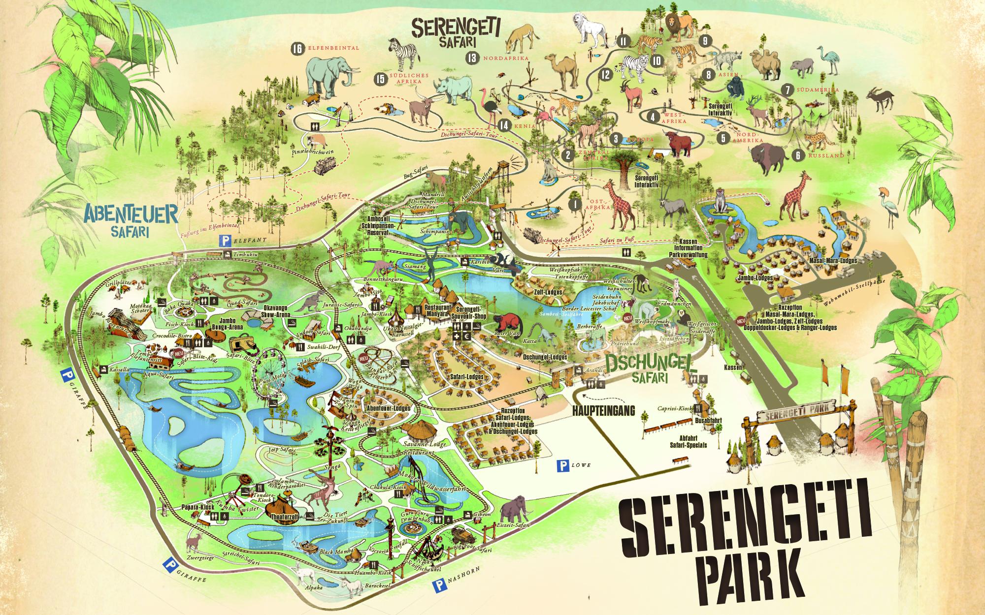 Plan Serengeti-Park 2021