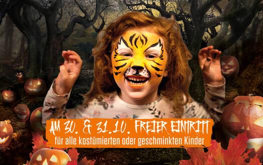 Freier Eintritt für Kinder an Halloween