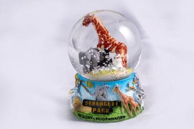Serengeti-Schneekugel klein