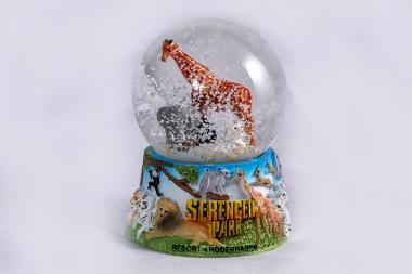 Serengeti-Schneekugel groß