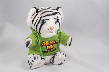 Weißer Tiger mit Serengeti-Pulli